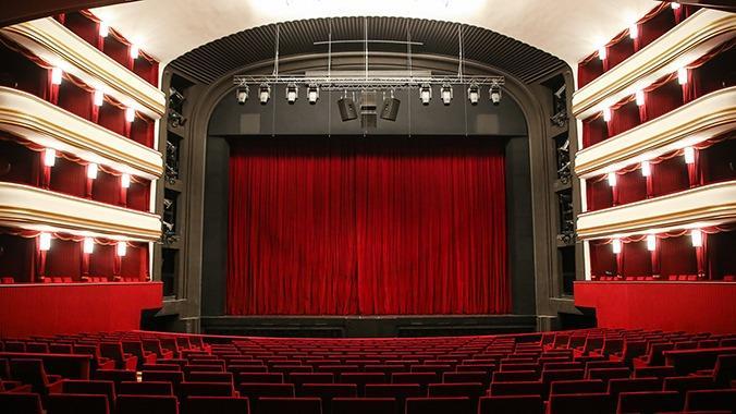 Blick in den Zuschauerraum der Volksoper Wien